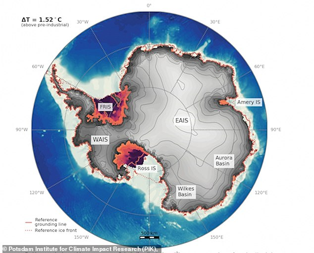 If humanity works together to reduce greenhouse gas emissions and keep global temperatures from rising by more than 2.7F (the current goal) then most of Antarctica will remain ice covered
