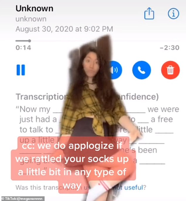 Saved: The Southeast Missouri State University student, said when she first answered a call from a blocked number on August 30, the man on the line asked who she was voting for