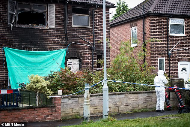 A 64-year-old woman has been arrested on suspicion of a murder after a man died in a house fire