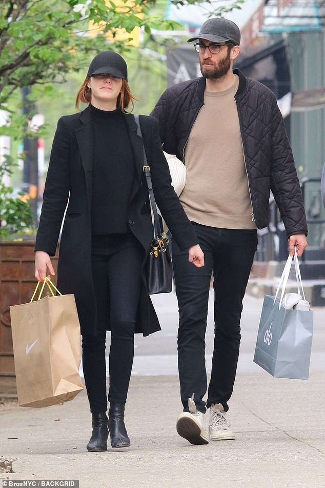 A stroll in the Big Apple: The duo were side by side in New York City on a shopping spree in April 2019