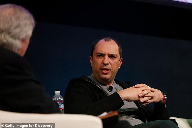 The Ukrainian-born Koum, 44, sold WhatsApp to Facebook for $19.3billion in 2014 (pictured in January 2018 at Computer History Museum in California)