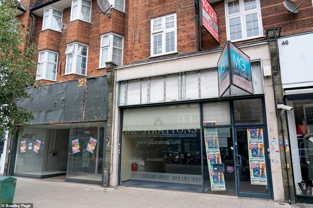 Closed down shop front on Golders Green Road in North West London.It is the second time in a year that a Chancellor has been forced to postpone the budget. Last November Sunak's predecessor Sajid Javid called off his plans when Boris Johnson called the December election
