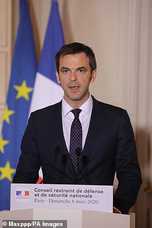 'The Greater Paris health system is now strongly under strain' said Mr Véran (pictured), during a press conference