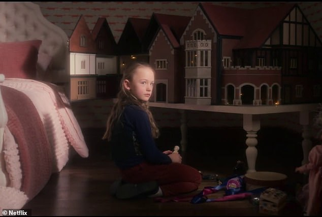 With suspenseful music lurking, the new teaser begins with images of young Flora standing near a pond and then playing in her bedroom