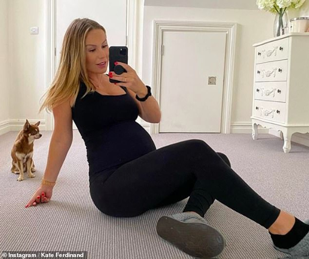 Emotional: She said: 'I couldn't get my head around being tired and not having the energy to go to the gym. But as I'm in the second trimester, I feel a bit more normal'