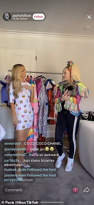 TikTok Live: Paris and JoJo then selected items from their respective walk-in closets to show off 'some of our most iconic outfits'