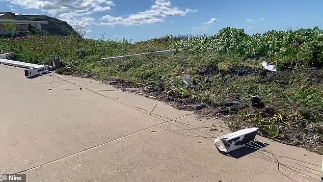 It's believed the car travelled over the corner of a grass car park near Bather's Way lookout