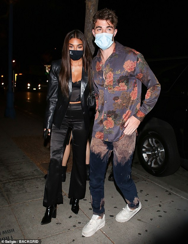 Date night: Chantel Jeffries and her beau Andrew Taggart, 29, were spotted arriving to the star-studded Father Foods launch party in West Hollywood on Wednesday night