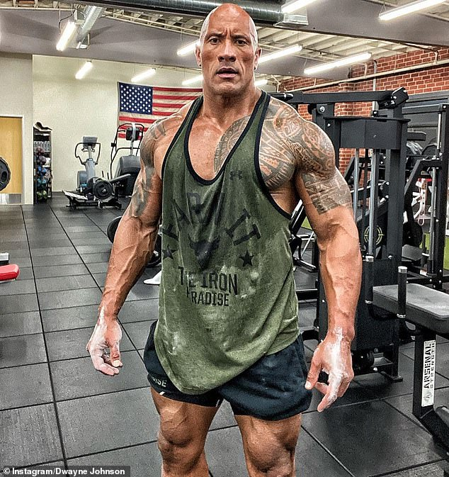 Actor Dwayne Johnson (pictured) is briefly set to call Australia home in October