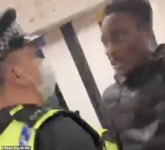 The officer finally walks up to the man and says, `` Stop trying to get me out my friend, it's not going to end well for you ''