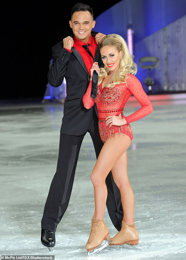 Twice on the ice! The soap star's ex Gareth, 36, appeared on Dancing On Ice in 2008 where he finished in fourth place with professional skater Maria Filippov. He also appeared on the 2014 show and finished in seventh place with Brianne Delcourt (pictured)
