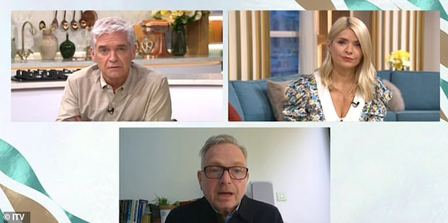 Important:Phillip was discussing the topic of mental health with Holly and Simon Gunning, CEO of charity CALM, on Thursday's episode of This Morning
