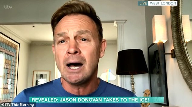 "Opening up: Jason - who previously took part in Strictly Come Dancing - admitted he is well aware the ice is ""not that forgiving"" as he discussed his own involvement in the show"