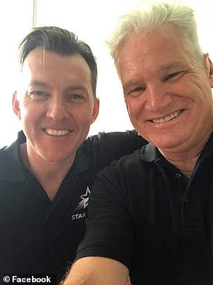 Fast bowler Brett Lee (left) desperately tried to revive him Jones (right) after he suffered a massive heart attack on Thursday