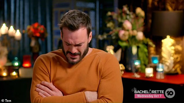 Crying game: Locky Gilbert seemed to miss the whole point of The Bachelor, breaking down in uncontrollable tears during the show's finale and claiming he couldn't choose between finalists Irena Srbinovska and Bella Veralis