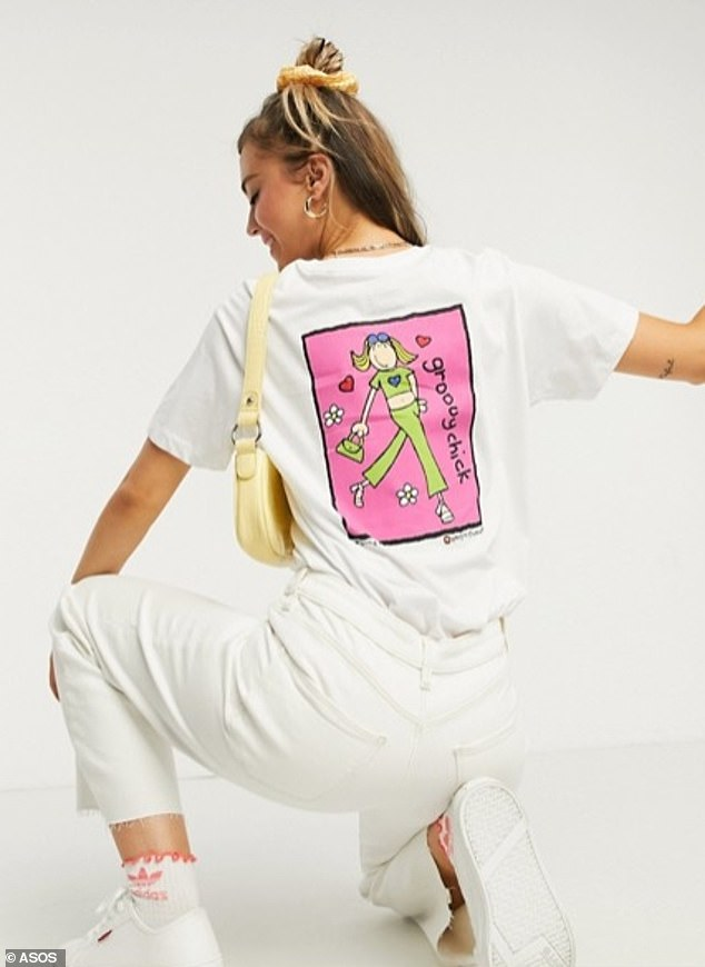 Made from 100 per cent organic cotton, the ASOS collection has sparked nostalgia for those who were fans of Groovy Chick throughout the late nineties and early noughties