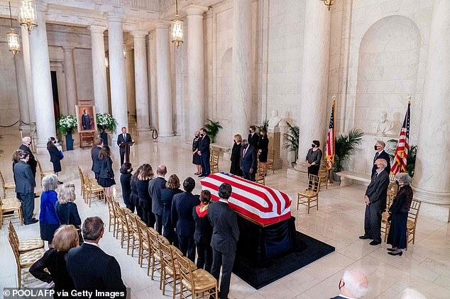 Chief Justice John Roberts gave the eulogy for Ginsburg as her family and fellow justices honored her legacy