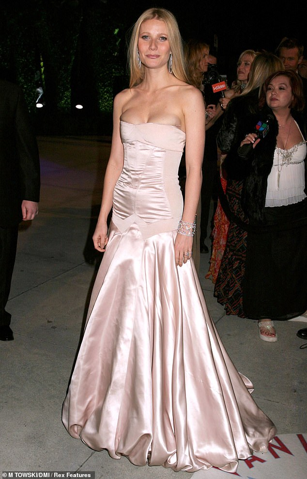 So Grace Kelly! Here the siren is seen in 2004.'She loves to play in my closet. I have saved everything for her since 15 years before I had her. I save everything. Not everything, but every red carpet look I have saved for her,' the Sliding Doors actress told People