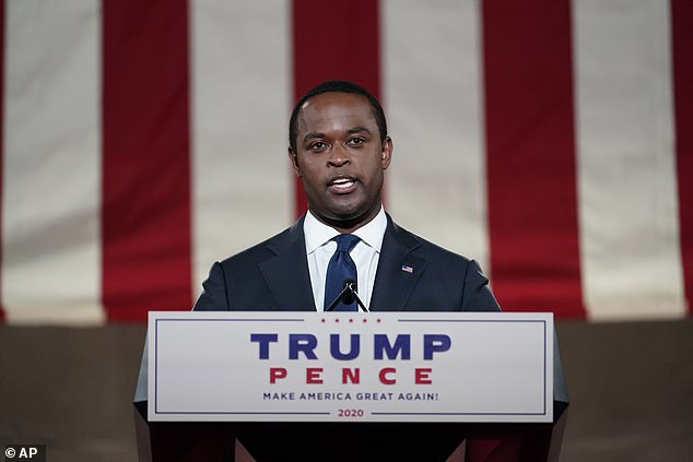Cameron was also a guest speaker at the GOP convention last month, where he declared himself a 'proud Republican and supporter of President Donald J. Trump'