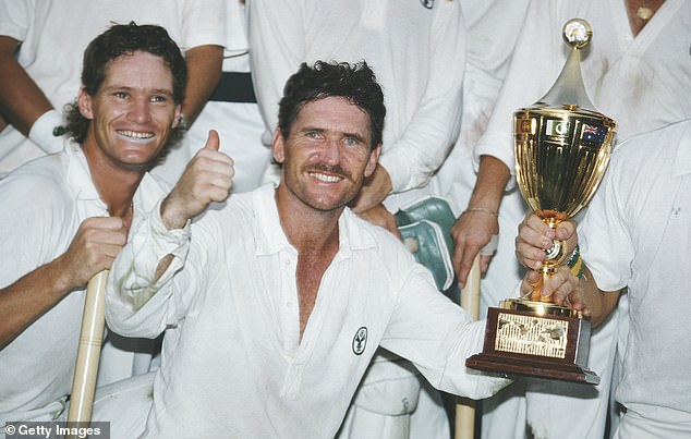 Former Australian cricket captain Allan Border (right) told said Jones (left) 'revolutionised the game'