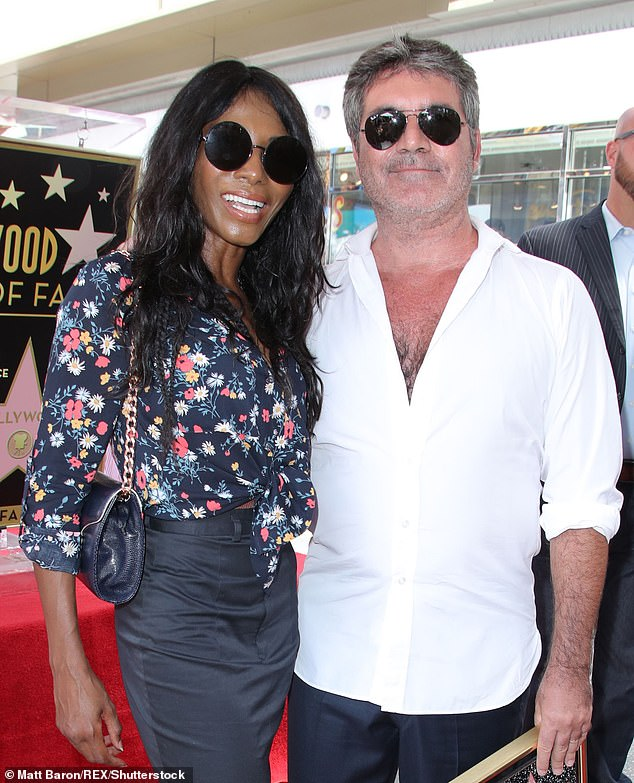 Getting better: Despite his excruciating injury, it appears that the Britain's Got Talent judge is well on the mend as singer Sinitta, 51, gave an update on his progress