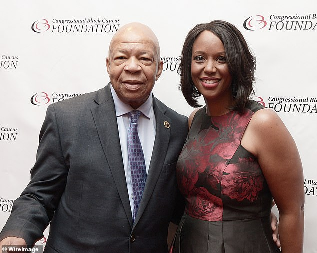 Maya Rockeymoore Cummings (r), channels her late husband Rep. Elijah Cummings in an op-ed that blasts President Trump for going against the 'dying wish' of Justice Ruth Bader Ginsburg