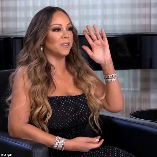 Tough: In an excerpt from their conversation on AppleTV +, Mariah revealed that she didn't feel 'worthy of existing' and was treated like 'an ATM with a wig'