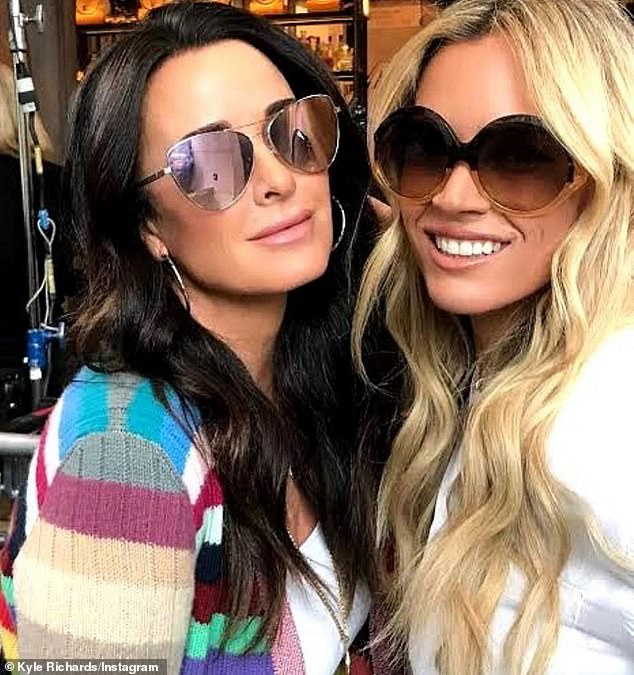 Buddies:After a failed attempt to locate the fortune-teller with a private investigator, Richards teamed up with her RHOBH co-star Teddi Mellencamp (right) to find the fortune teller
