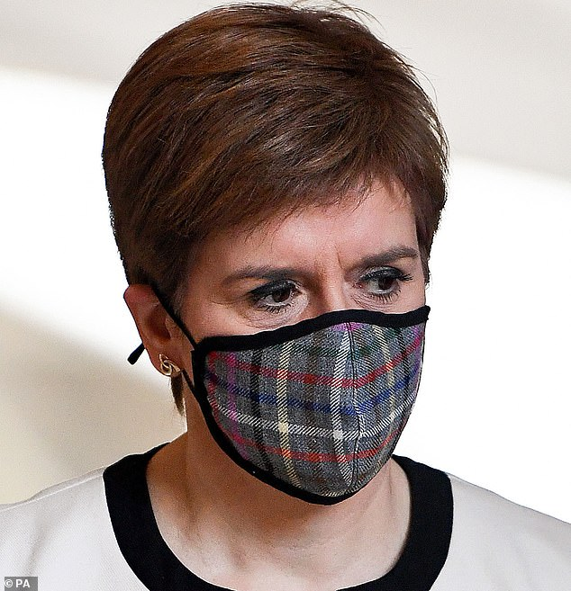 Nicola Sturgeon imposed a blanket ban on social mixing in households this week in Scotland