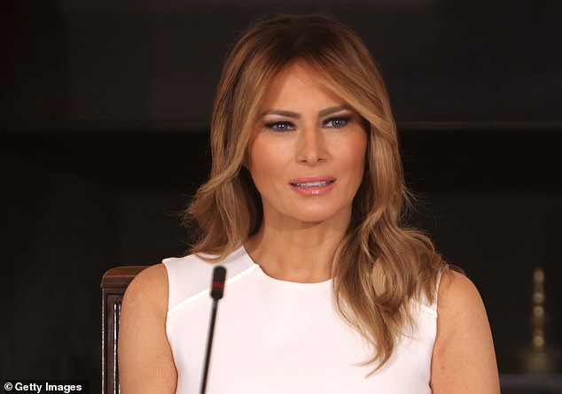 The Trumps' personal lawyer and the acting assistant attorney general of the DOJ's Civil Division both reached out to Wolkoff's lawyers trying to enforce a non-disclosure agreement she had signed in 2017 with first lady Melania Trump (pictured)
