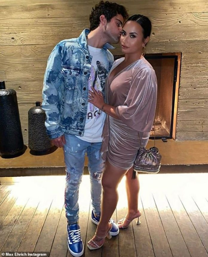 Demi Lovato and fiance Max Ehrich are heading towards a breakup... weeks  after saying they may elope | Daily Mail Online