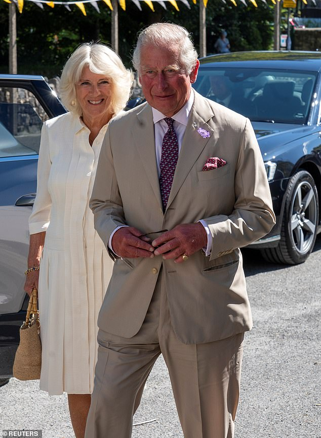 It was stressed that the Prince, the Duchess, pictured in Cornwall in July, and the rest of the royal family would try to get out and about to meet people as much as restrictions allowed