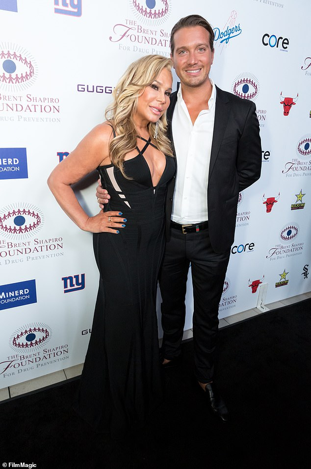 Once again, once again: Previously he had dated the Real Housewives of Beverly Hills former Adrienne Maloof, 59, who is almost twice her age (seen in 2018)