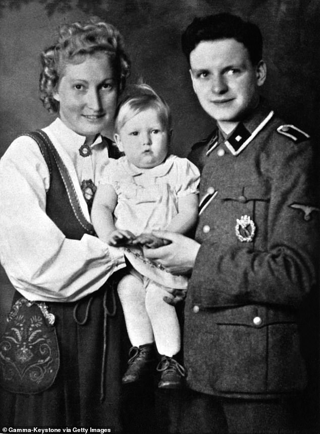 German parents with a German allegedly Aryan girl born in a Lebensborn : Center Of Eugenics during The Second World War