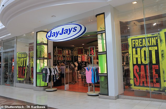 Rental agreements also play a major part in the possibility of store closures(pictured, one of their brands Jay Jays)