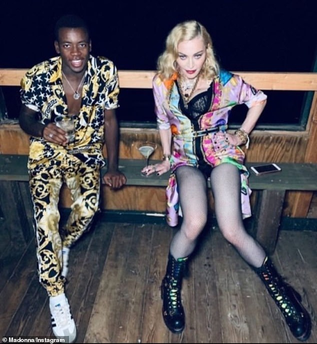 Werrrrk! The self-made superstar Instastoried several throwback snaps of the mother-son duo rocking high-fashion ensembles together