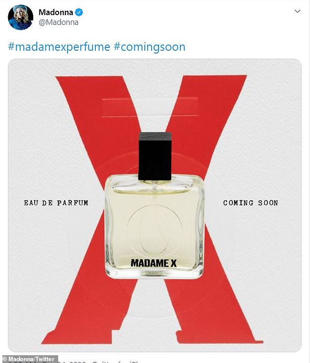 'Coming soon!'On Thursday, the two-time Golden Globe winner announced she will 'soon' release a fragrance called Madame X inspired by her 14th studio album