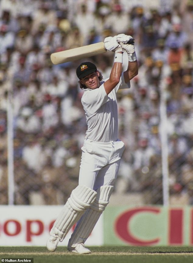 Batsman Dean Jones in action at the 1987 World Cup match against India in Chennai