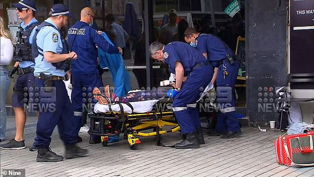 She was taken to Sydney Hand Hospital for treatment on her badly damaged hand