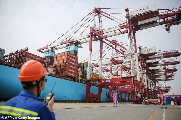The importer's products and facilities generated 51 positive test results, but no contaminated product was marketed, the commission said, without identifying the items or their origins. File photo: A staff member is seen working at a port in east China's Qingdao on July 2