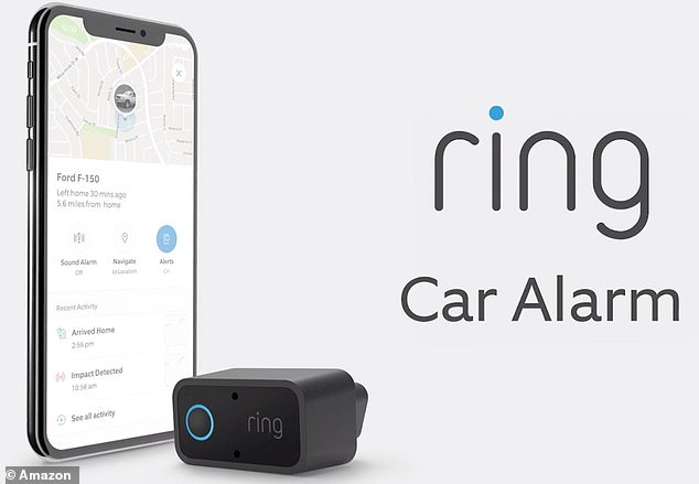 Packed with sensors, the device sends an alert immediately to the Ring app when it detects an event, such as a bump, break-in, tow-away or an attempt to open the door
