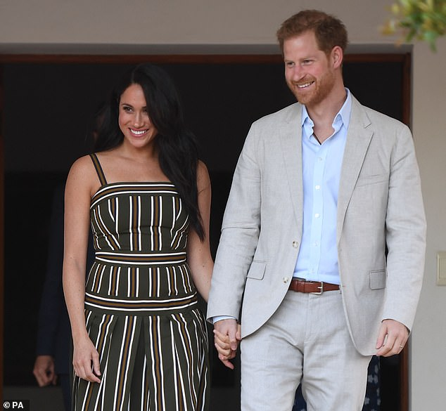 Royal accounts published today show £245,643 was spent on scheduled flights and a private jet for the couple (pictured in Cape Town) and their entourage, making it the most expensive royal trip of the year
