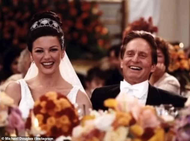 I Do: The Hollywood star also shared a photo taken on their wedding day on November 18, 2000