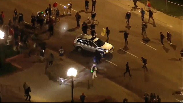 Benson was behind the wheel of the vehicle that was seen accelerating into a crowd of BLM demonstrators outside the Colorado State Capitol building