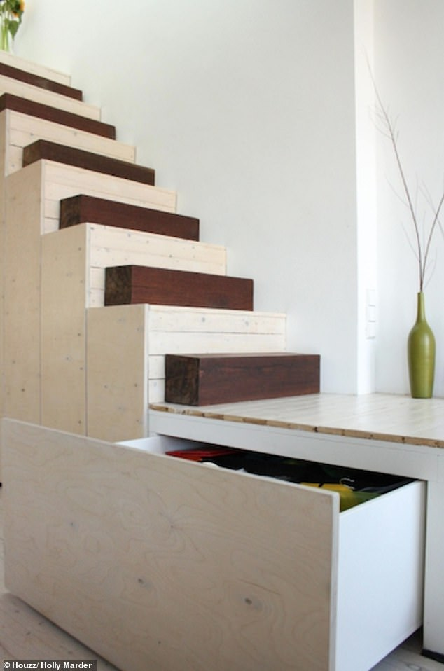 Victoria suggests investing in clever storage for footwear such as having space carved out under the stairs