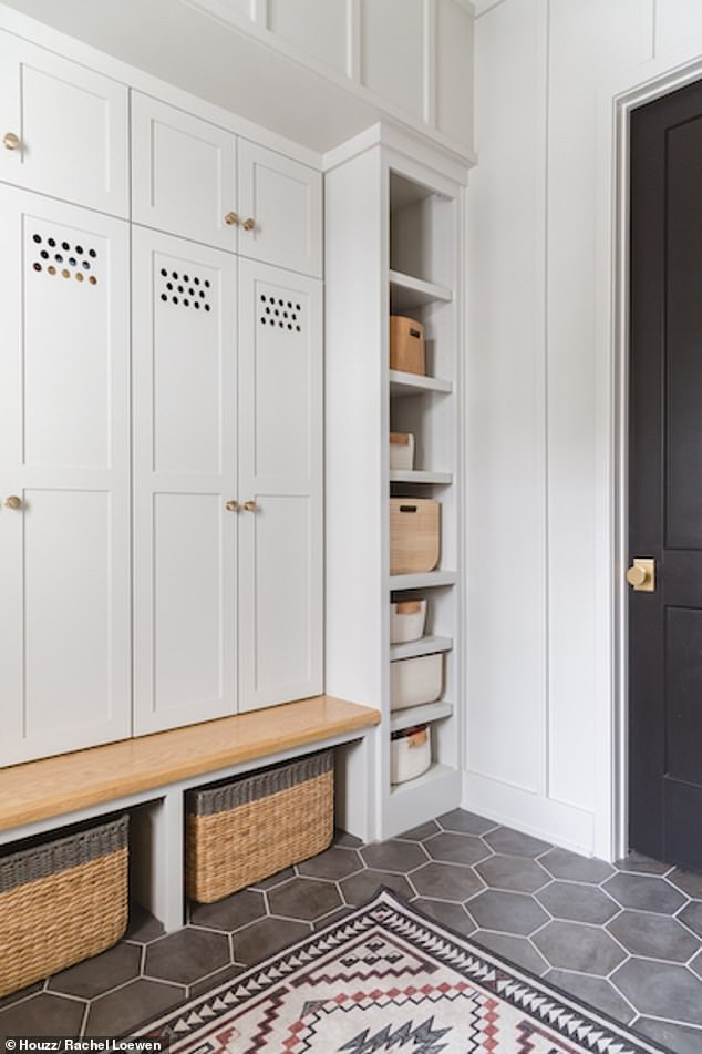 Victoria said those who have space in their hallway can benefit from a storage bench that can also be used to sit down when removing shoes