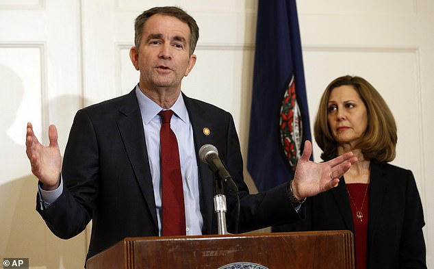 Ralph Northam, the Democrat governor of Virginia, and his wife Pamela tested positive
