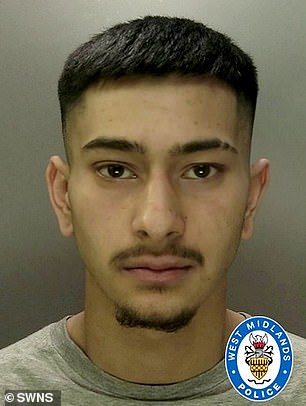 Sukhbir Singh-Phull (pictured), 18, was found guilty today by Warwick Crown court of stabbing young Aston Villa player Ramani Morgan, 16, to death at a party in Coventry on February 29.