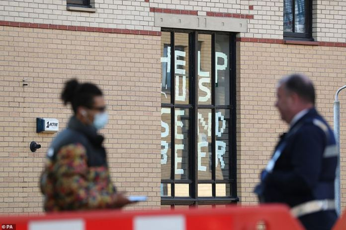 The teenager and three other people in her eight-person flat in Glasgow University's Murano Street Student Village (pictured) have now tested positive for Covid-19