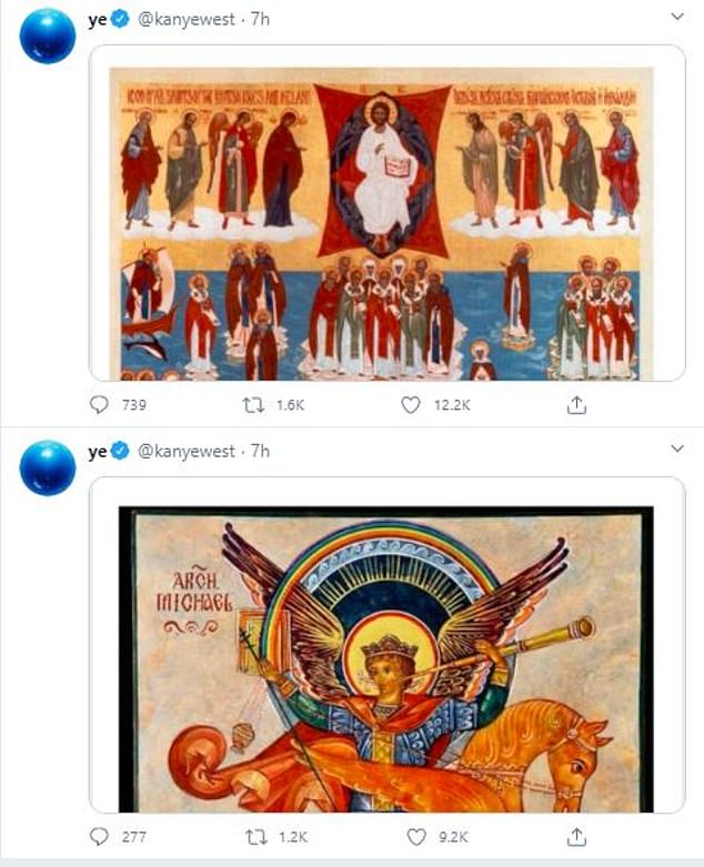 West did not comment on the trip to Haiti but posted a string of religious images